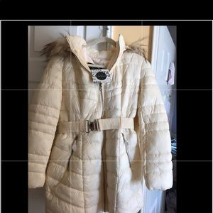 NWT LA Coalition Ivory Puffer Coat